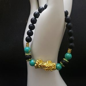 """🧘🏻♂️ 8"""" Lucky Feng Shui Green black gold b"""